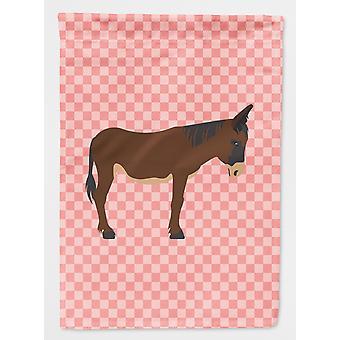 Zamorano-Leones Donkey Pink Check Flag Canvas House Size