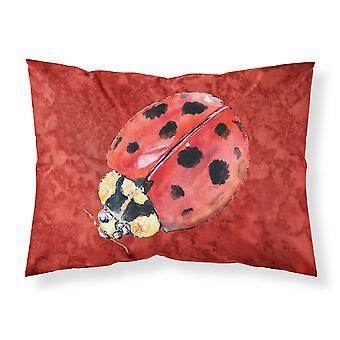 Lady Bug auf Deep Red feuchtigkeitsableitende Stoff standard Kissenbezug