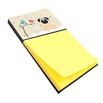 Рождественские подарки между друзьями мопс палевый записки держатель