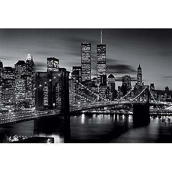 Brooklyn Bridge - schwarz & weißes Plakat Poster drucken