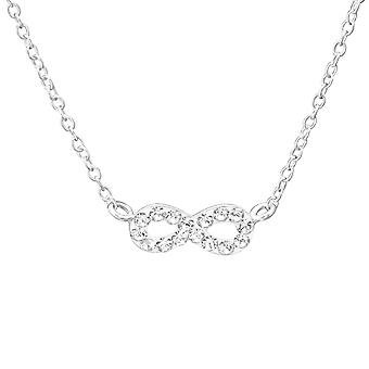 Infinity - 925 Sterling hopea Jewelled kaulakorut - W35269x