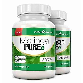 Reine Moringa Kapseln 500mg - 120 Kapseln - Antioxidans - Evolution abnehmen