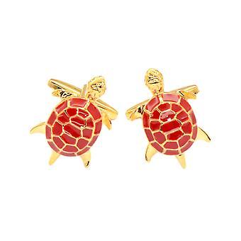Gold-Tone Men's Cuff Links Turtle Design Mens Cufflinks