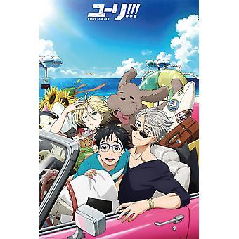 Yuri sur glace voiture Maxi Poster