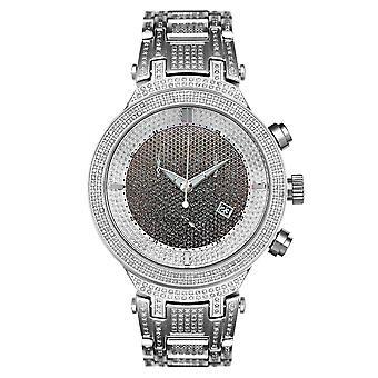 Joe Rodeo diamond men's watch - MASTER silver 4.75 ctw