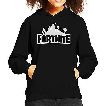 Fortnite Logo Kid er hette Sweatshirt