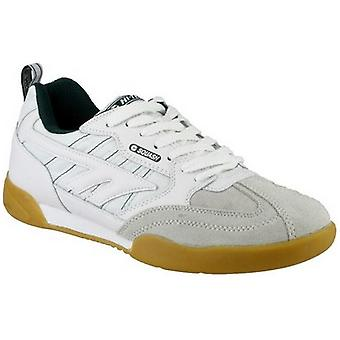 Hi-Tec Mens & Ladies Squash Lace Up Leather Sports Trainer White