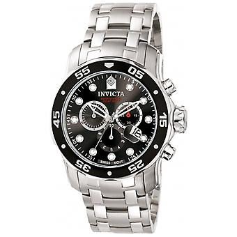 Invicta  Pro Diver 0069  Stainless Steel Chronograph  Watch