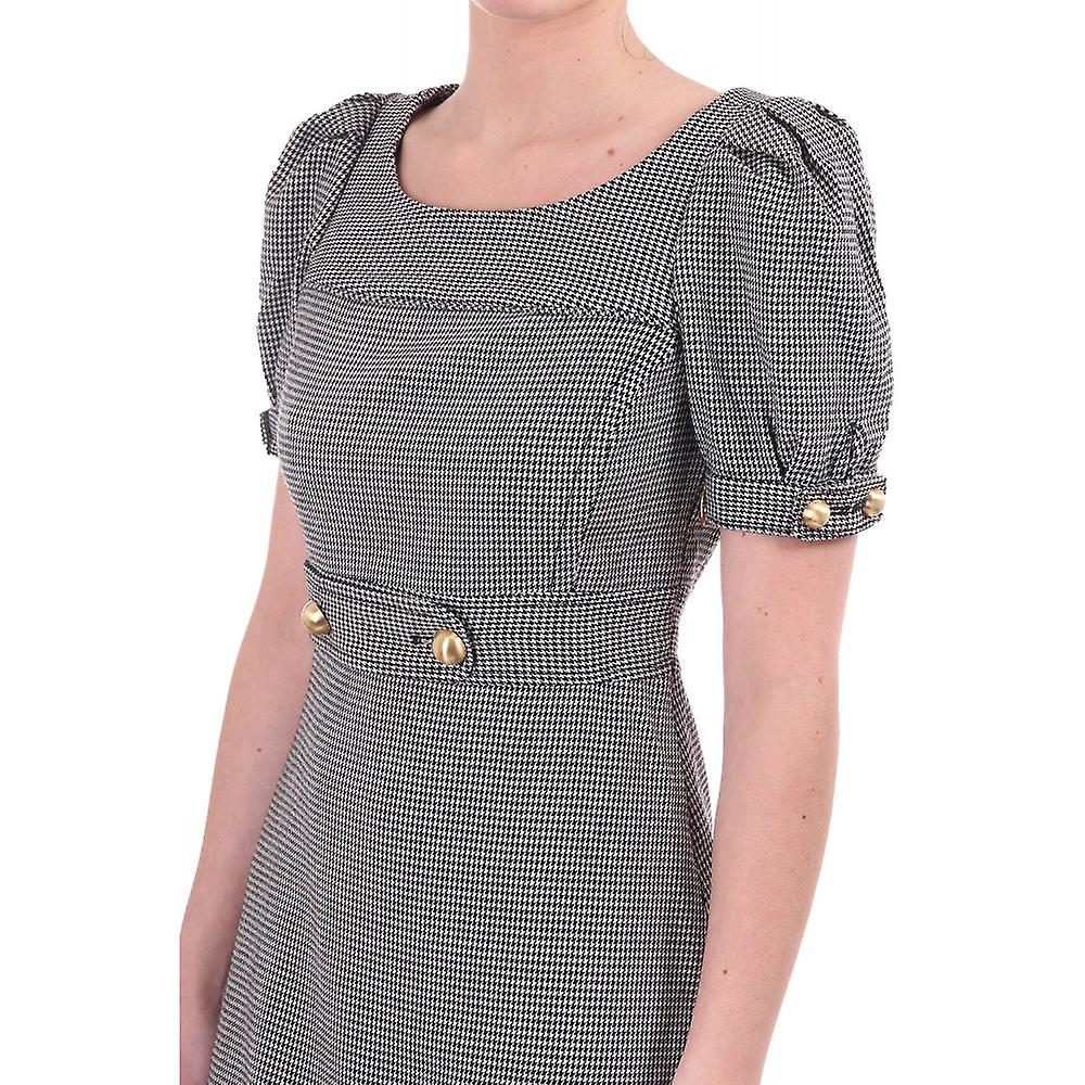 Juicy Couture Womens Fitted Short Check Dress