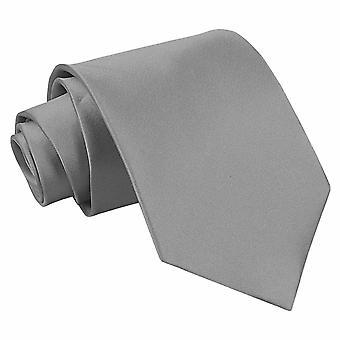Platinum oformaterad Satin Extra långa slips