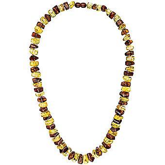 Двухцветный янтарные колье янтаря ожерелье цепь Ожерелье янтаря 58 см