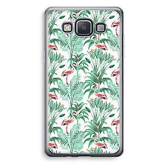 Samsung Galaxy A3 (2015) gjennomsiktig sak (myk) - Flamingo blader
