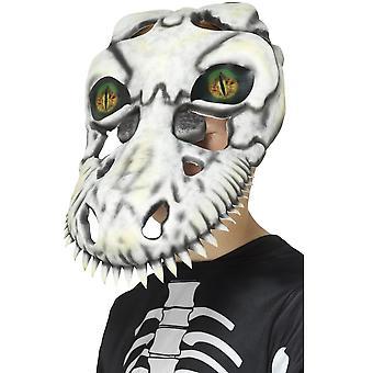Máscara esqueleto de dinosaurio de T-rex de máscaras