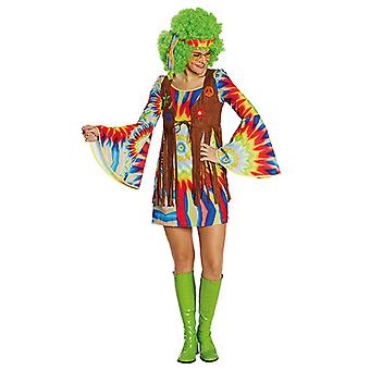 Hippie dam funky damer kostym Carnival Carnival hippy