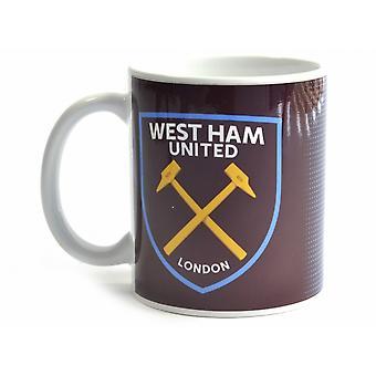 West Ham United FC Halftone 0.3kg Boxed Mug