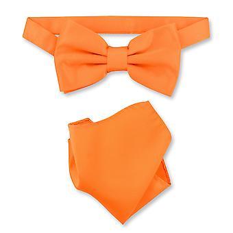 Vesuvio Napoli BowTie solido Mens cravatta & fazzoletto