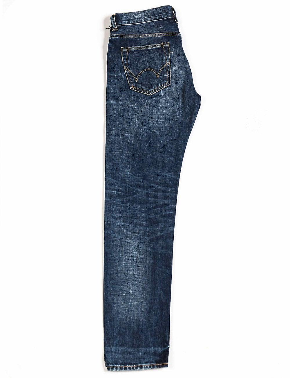 Edwin Jeans Ed-80 Slim Tapered Red Selvedge Denim - Contrast Clean Wash