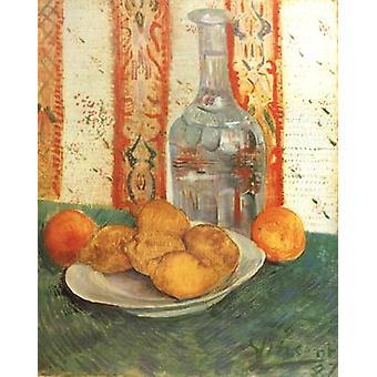 Stillleben mit Dekanter und Zitronen auf einem Teller, Vincent Van Gogh