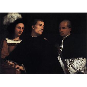 Das Konzert, Tizian, 50x40cm