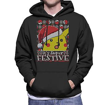 Seine Super festliche Pikachu Pokemon Weihnachten Herren Sweatshirt mit Kapuze