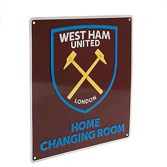 West Ham United FC Official Home Changing Room Sign