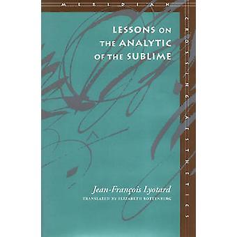 Lessons on analyyttinen ja Sublime Jean-Francois Lyotard - 978