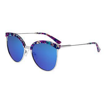 Bertha Hazel polarizzata occhiali da sole - Rose oro/blu