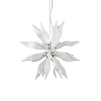 Ideal Lux - hojas blanco mediano colgante IDL111957