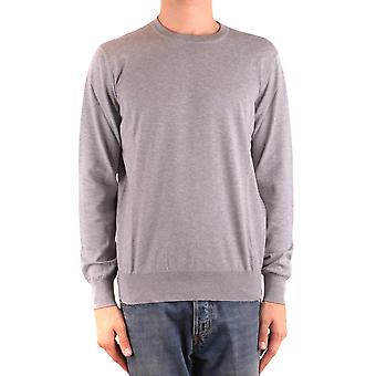 Brunello Cucinelli Ezbc002080 Men's Grey Cotton Sweater