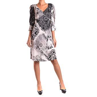 John Galliano Ezbc164039 Women's White/black Silk Dress