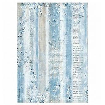 Stamperia Rice Paper A4 Blue Land Texture (DFSA4335)