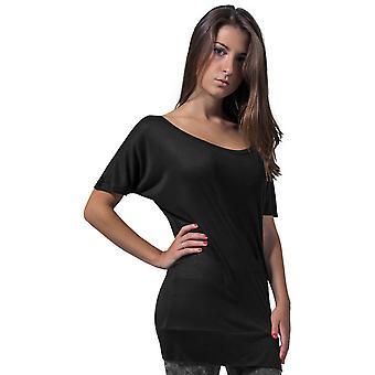 Cotton Addict Womens Viscose Long Short Sleeve T Shirt
