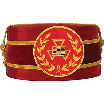Royal Arch Grand Past High Priest PHP Wreath Cap Red