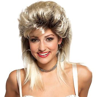 Rocker Groupie 80's Blonde Wig For Adults