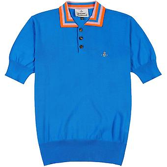 Vivienne Westwood Stripe Collar Knitted Polo