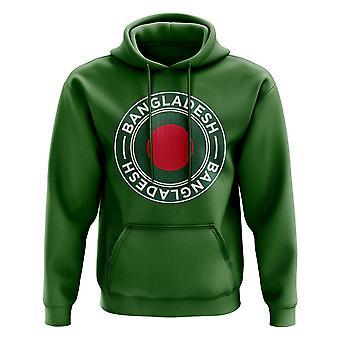Bangladesh fotball Badge hettegenser (grønn)