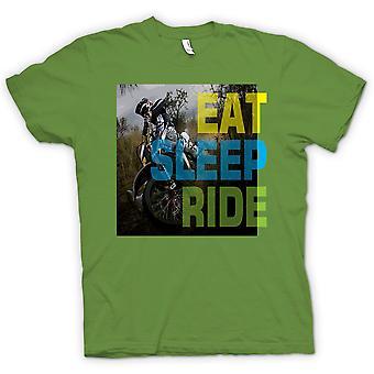 Мужская футболка - Offroad Мотокросс - Ешьте сна Ride