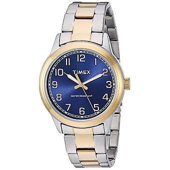Timex Mens Nova Inglaterra Two-Tone/azul inox pulseira relógio TW2R36600