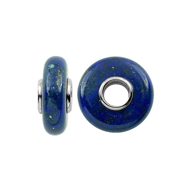 Storywheels Silver & Lapis Natural Stone Charm S353BLU