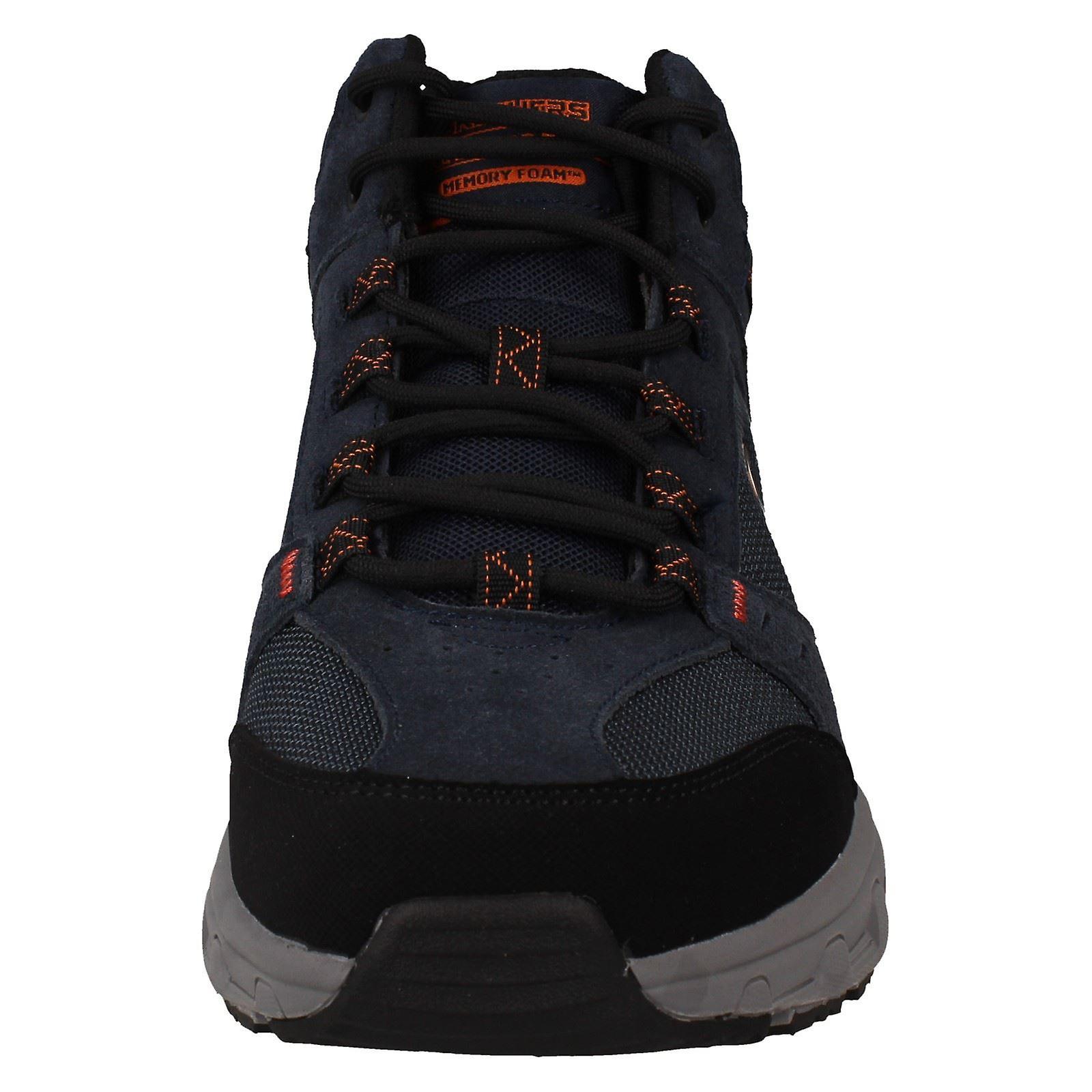 Mens Skechers Mémoire Mousse Ankle Boots Oak Canyon Iron Hide
