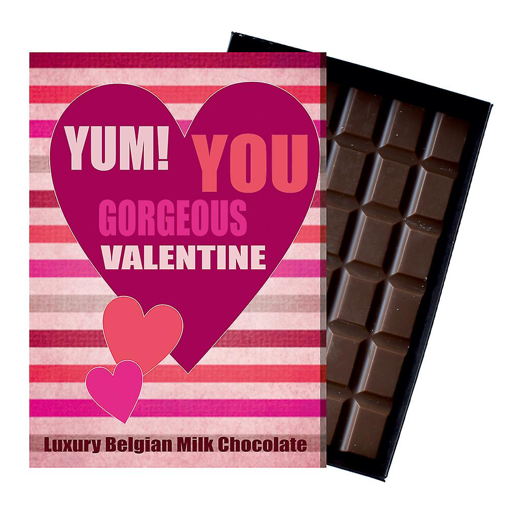 Valentine's Day Gift for Boyfriend Girlfriend Wife Husband Boxed Chocolate Greeting Card Present YUM117