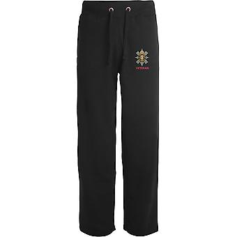 Black Watch Veteran - Licensed British Army Embroidered Open Hem Sweatpants / Jogging Bottoms