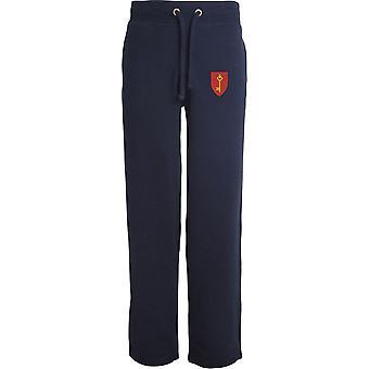 Royal Gibraltar Regiment TRF - Licensed British Army Embroidered Open Hem Sweatpants / Jogging Bottoms