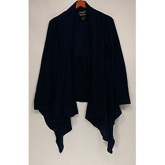 Lizden Sweater Whisperlush Open Front Cardigan Navy A271930