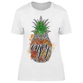 Enjoy Boho Pineapple Tee Women's -Image by Shutterstock