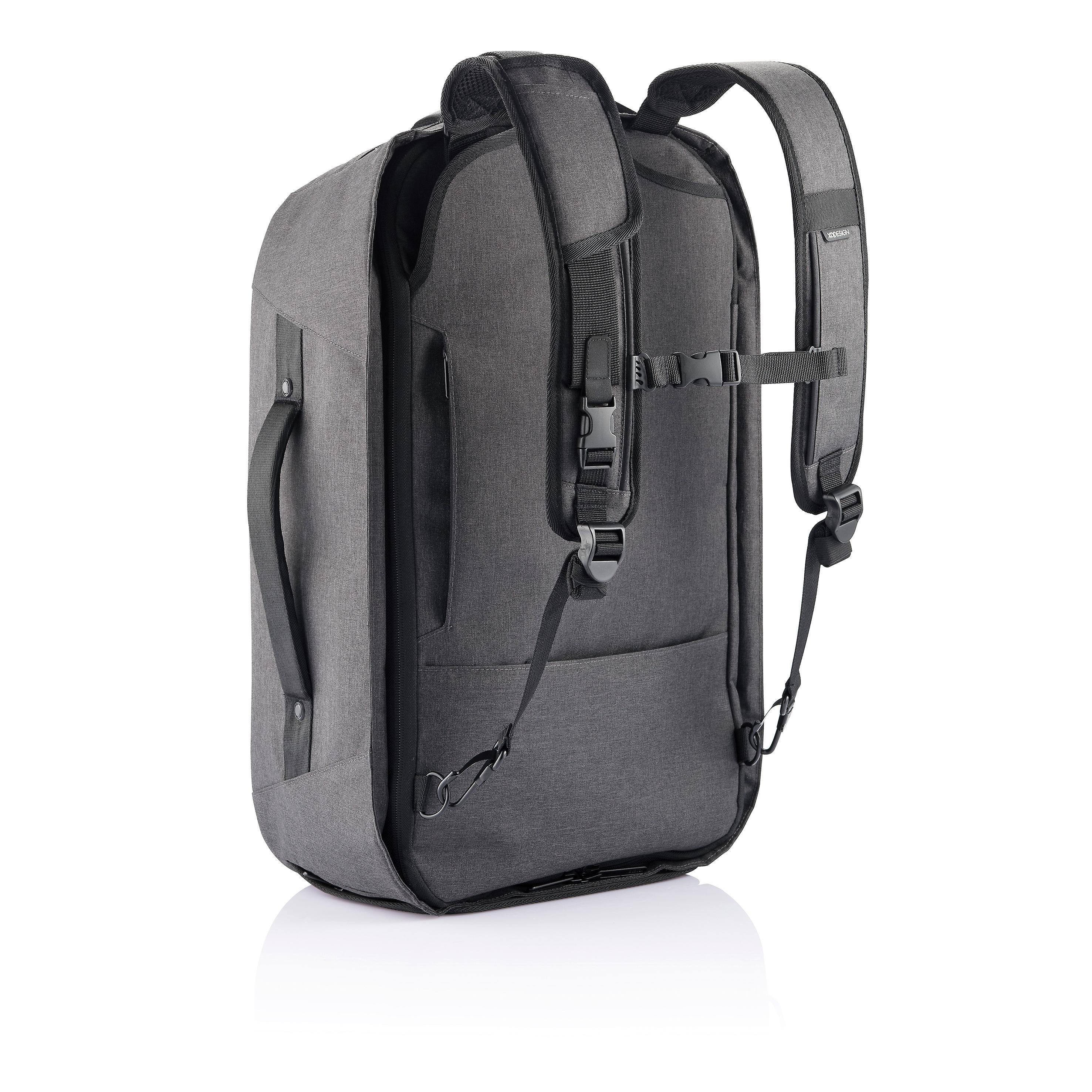 XD Design Bobby Duffle 30L Weekender Anti-Theft Travel Backpack Black