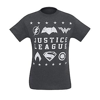Justice League Movie nødlidende symboler mænd ' s T-shirt