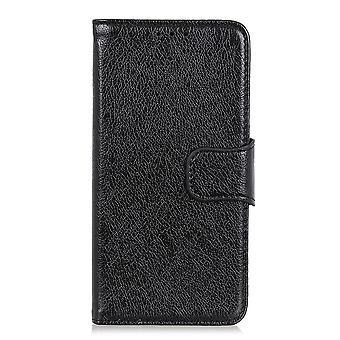 Nokia 2.2 Portafoglio Custodia con texture split-Black