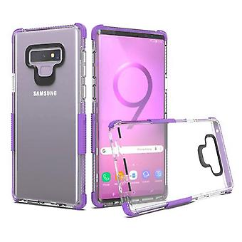 Transparent Clear/Purple Bumper Claro Candy Skin Cover  for Galaxy Note 9