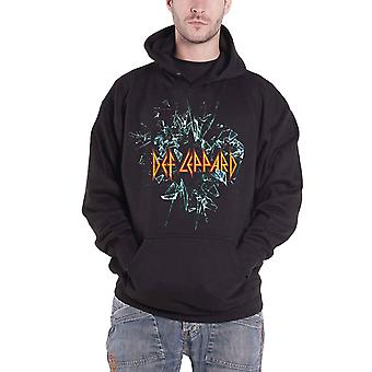 Def Leppard Hoodie band logo Official Mens New Black Pullover